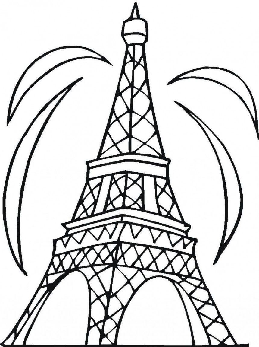 Free Printable Eiffel Tower Coloring Pages For Kids Cool Coloring Pages Coloring Pictures Free Kids Coloring Pages