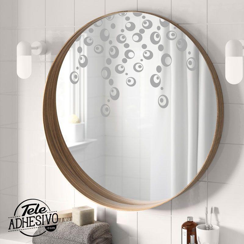Decorar espejos con vinilo | Vinilo espejo, Espejos baño y Vinilo ...