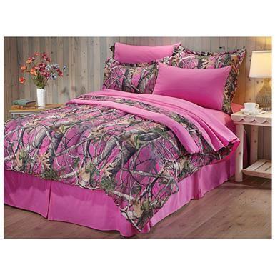 CASTLECREEK Next Vista Pink Camo 8 Piece Bed Set