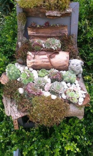 Alter Stuhl Mit Neuer Aufgabe Garten Deko Alter Stuhl Garten