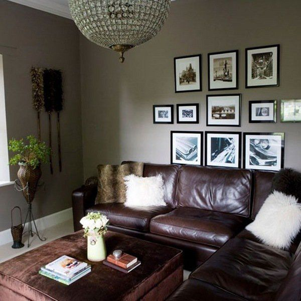 Living Room Decor Ideas Brown Leather Sofa brown living room decor | home design ideas