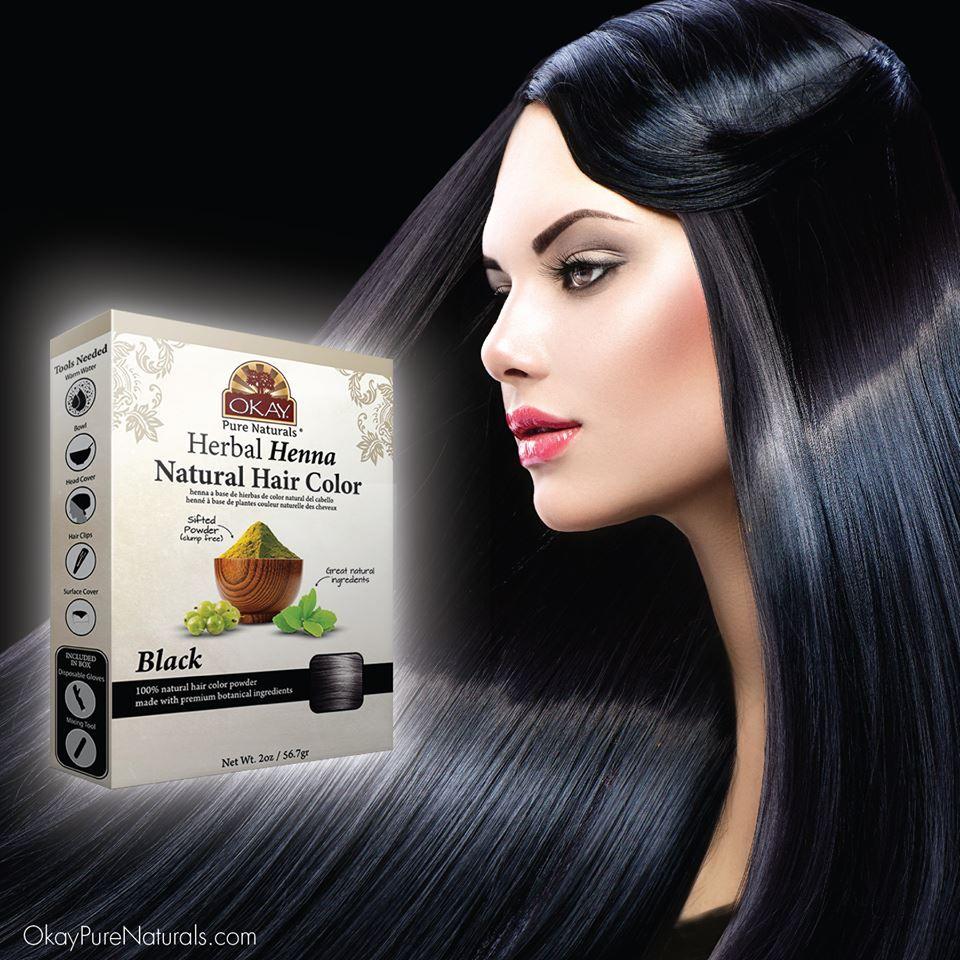 Herbal Henna Hair Color Black Natural Hair Coloring