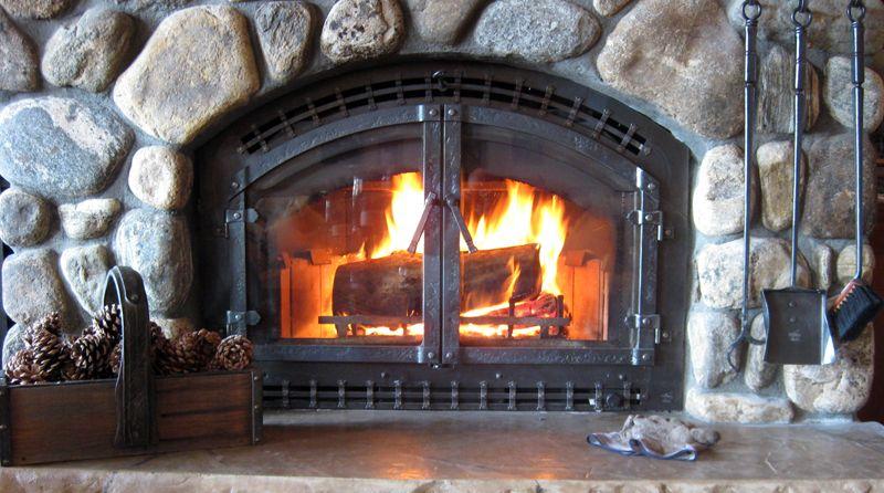 Custom Forged Fireplace Doors Fireplace Ironwork Pinterest