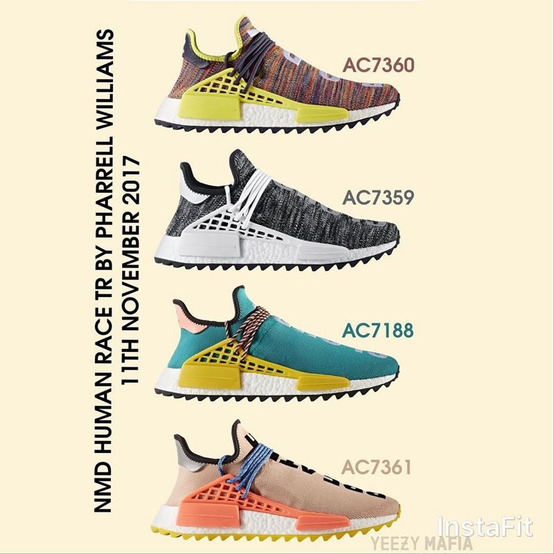 6a84100c8077 Pharrell Williams x adidas Originals Hu NMD Trail