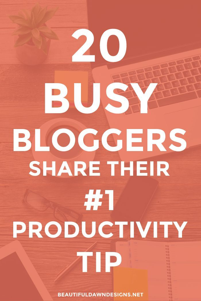 Thrilled to be a part of this incredible roundup! If you're a blogger who wants to learn how to increase your productivity, you're in for a treat. In this post, 20 busy bloggers share their number one productivity tip.