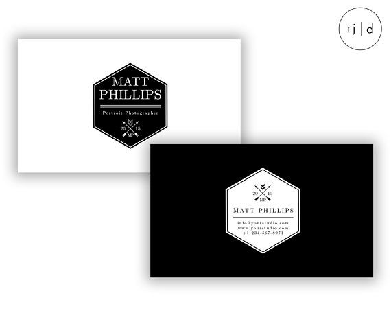 Business card template design for photographers bloggers black business card template design for photographers bloggers black white business card monochrome reheart Images