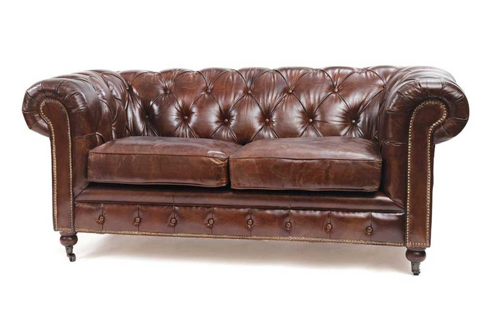 Antique Sofa Styles | Chesterfield Antique Brown Leather Sofa