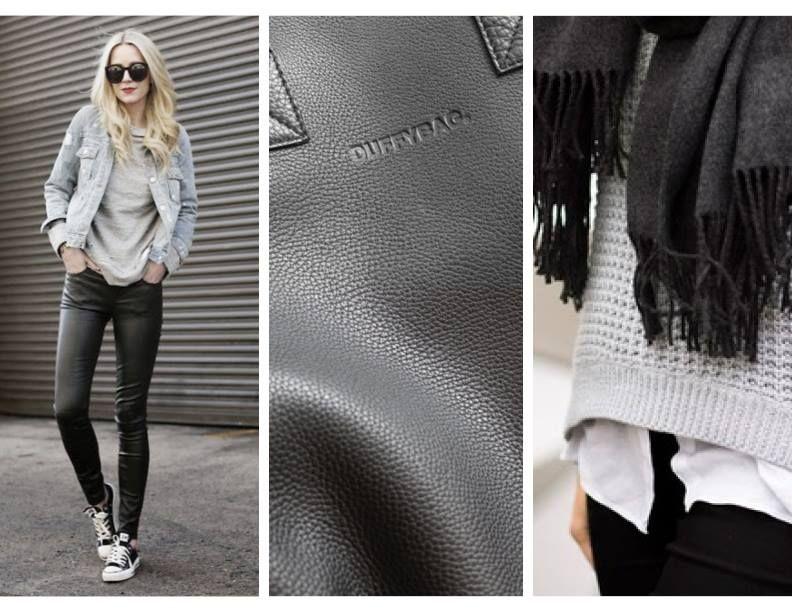 #graysweater #denimjacket