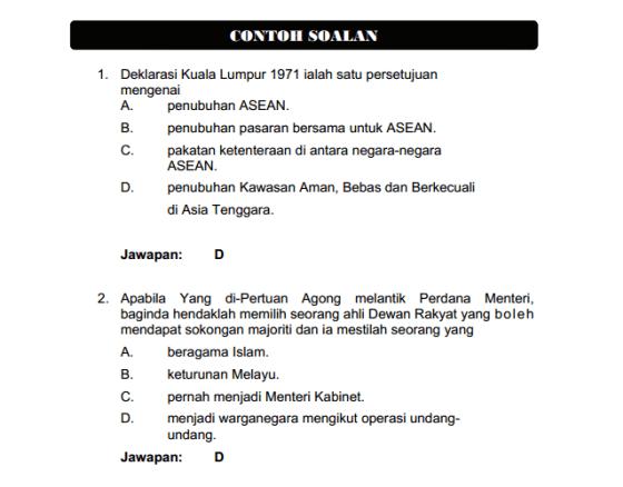 Contoh Soalan Pembantu Tadbir N19 Jpa Spa Contoh Soalan Jawapan Exam Education Resume Design
