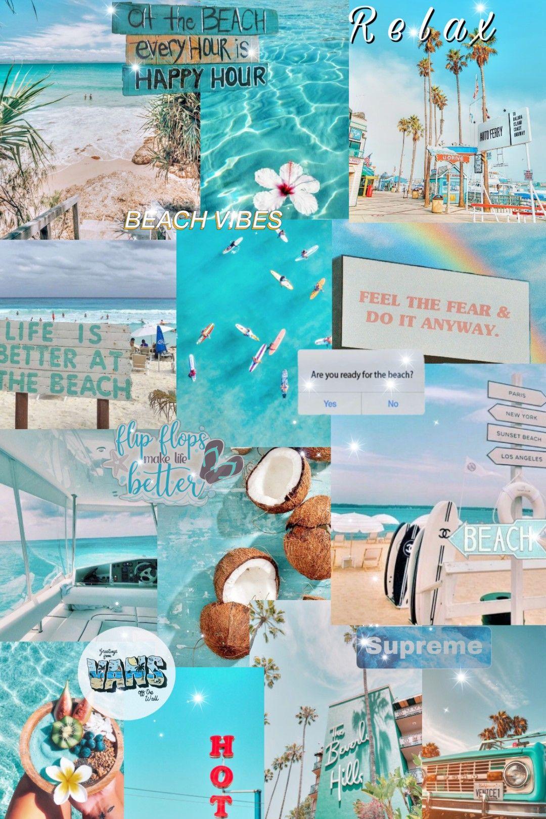 Aesthetic wallpaper beachy vibes