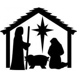 nativity scene clip art | Christmas Nativity Scene Clip ...