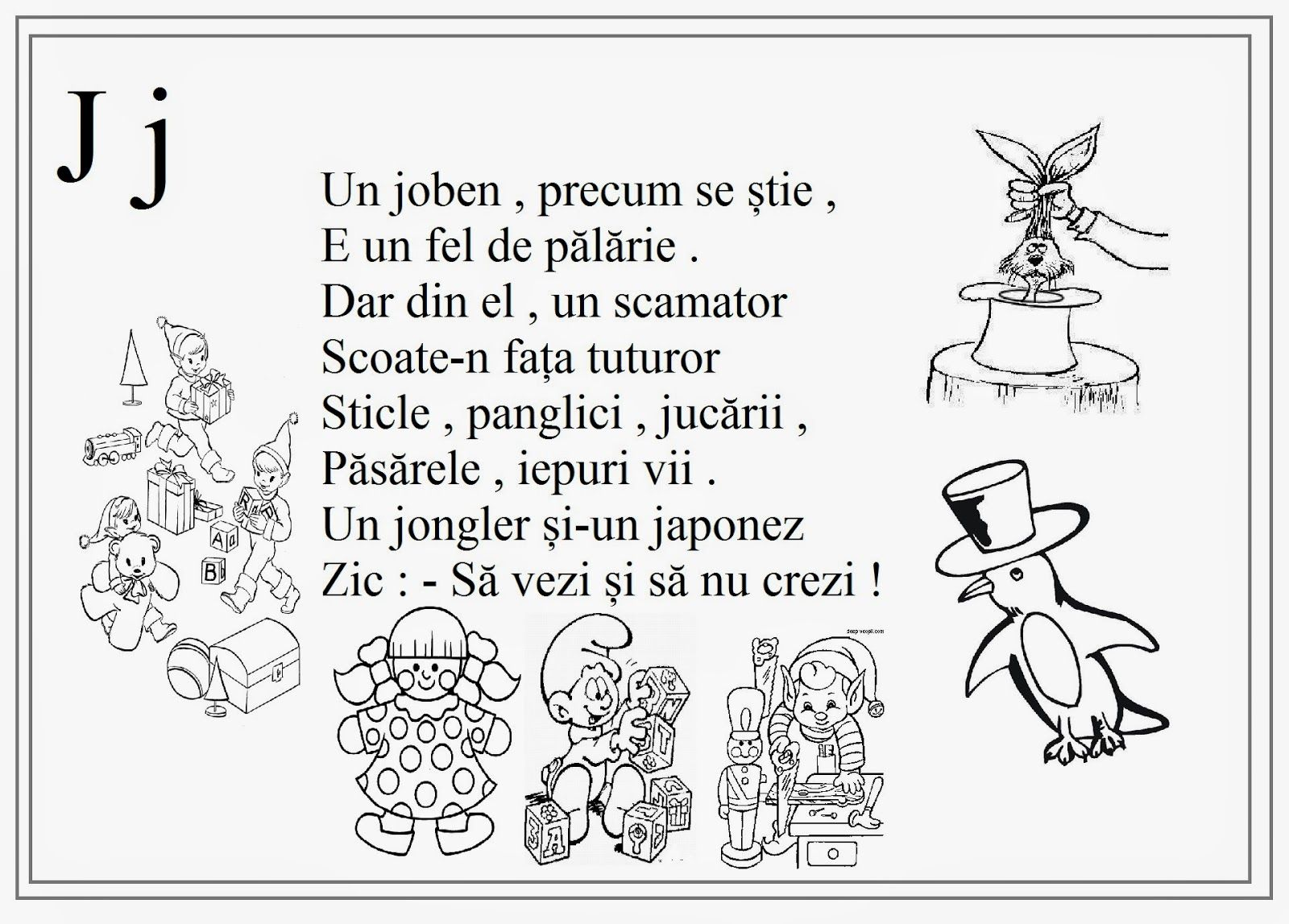 Lumea Lui Scolarel De Colorat Alfabetul Litere Copii