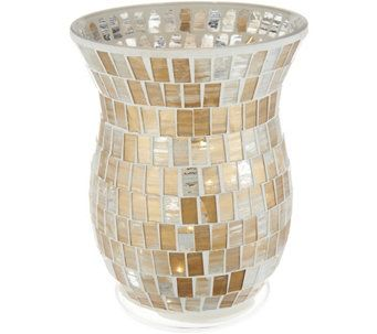 Lightscapes Swirled Mosaic Hurricane W Flameless Swirl Candle H214752 Sand Candles Candle