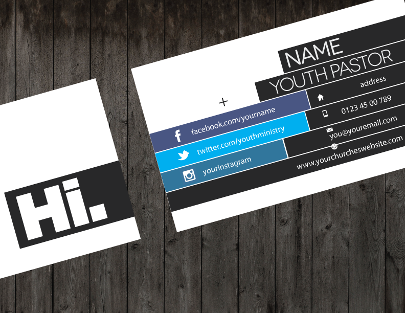 Creative Business Card | Youth Ministry Media Store | Church Youth ...