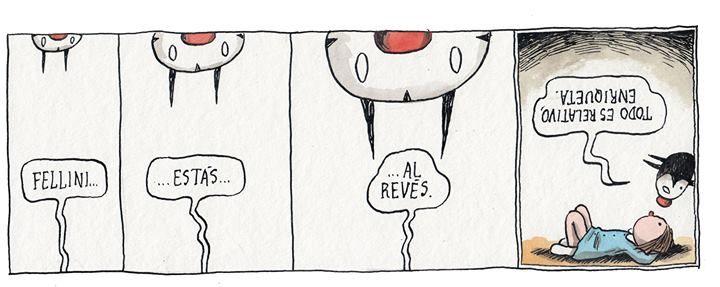 """""""Fellini"""" em Macanudo, por Liniers"""