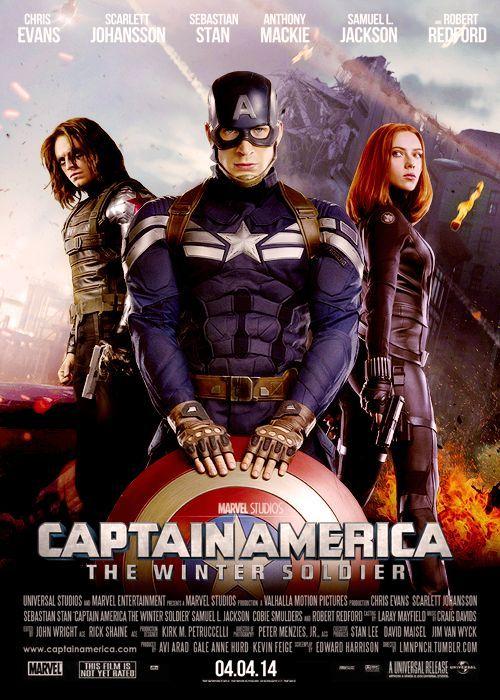 Captain America The Winter Soldier Affiche Film Films Cultes Affiche De Film