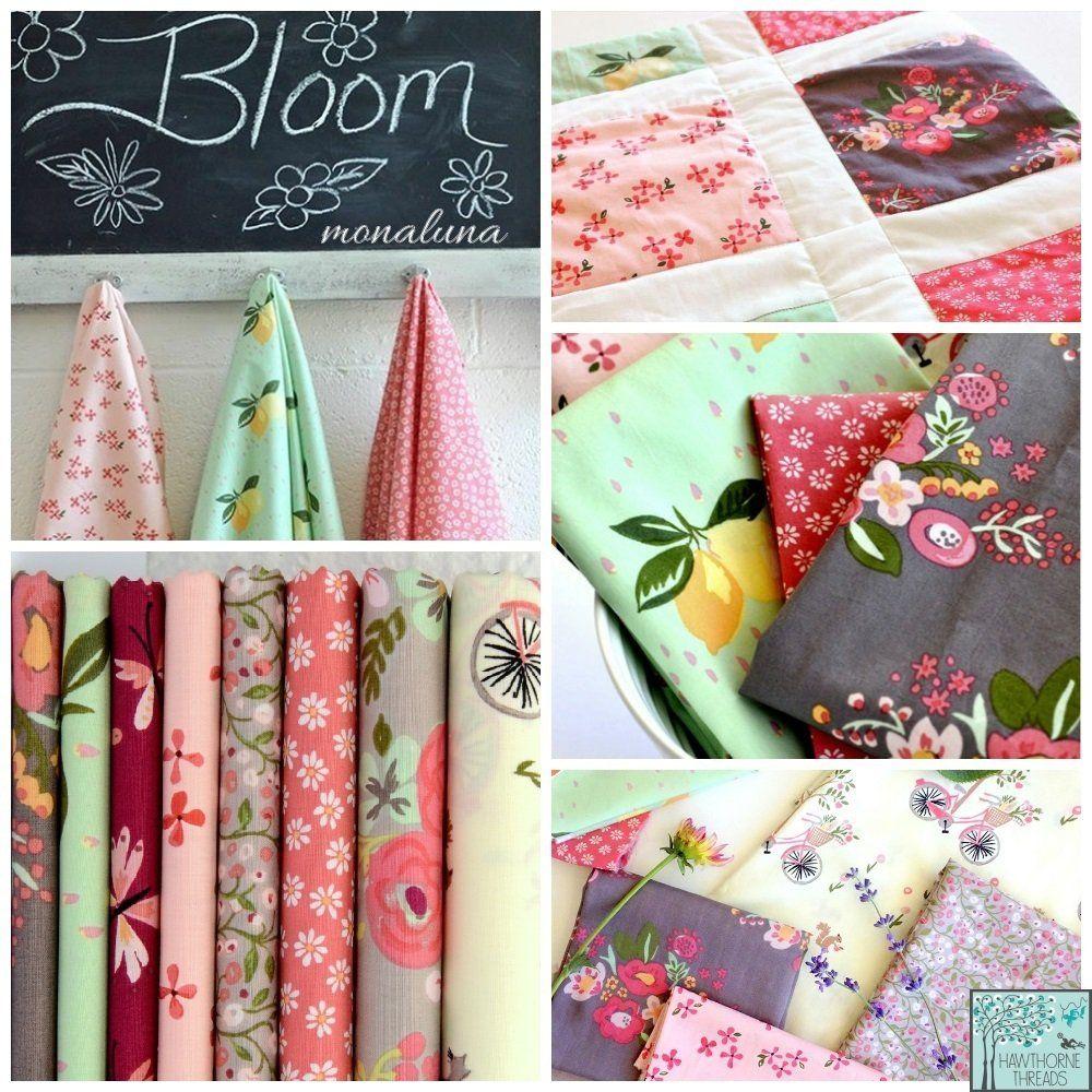 Monaluna House Designer - Bloom Fabric Collection | Quilt Fabrics ... : designer quilt fabric - Adamdwight.com