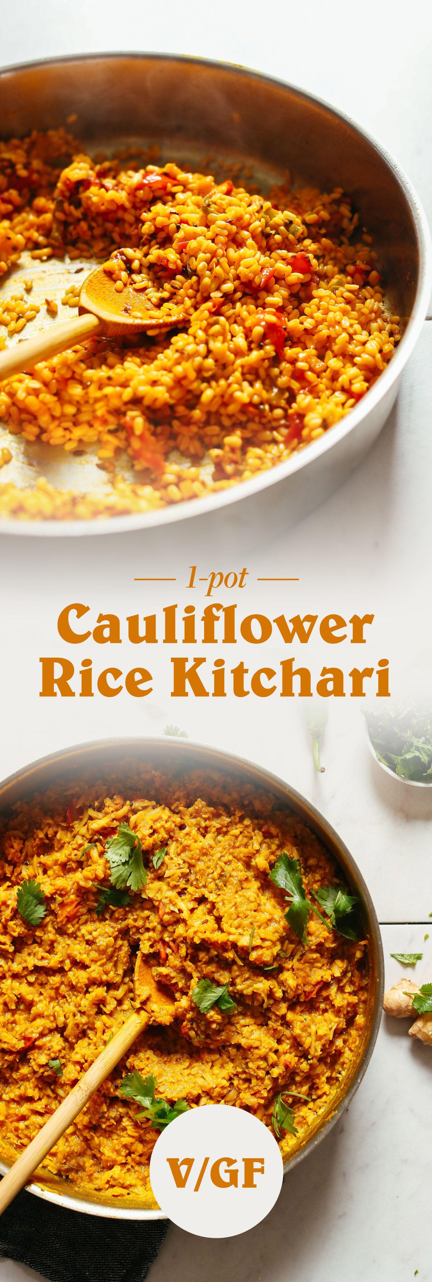 Vegan Cauliflower Rice Kitchari Minimalist Baker Recipes Recipe Recipes Kitchari Recipe Cauliflower Rice