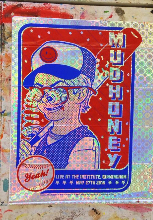 """apesex:  """"My print for Mudhoney's show on May 27th, Birmingham, England. I printed two shinies! Details on how to get hold of one will follow….  """""""