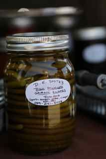 Pickled Garlic Scapes from Turtle Back Hollow in Colborne, Ontario