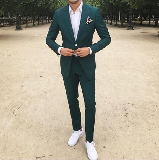 Green suit men, Mens fashion suits