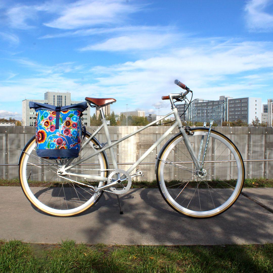 Geblumte Fahrradtasche Fur Den Gepacktrager Wasserdicht Und