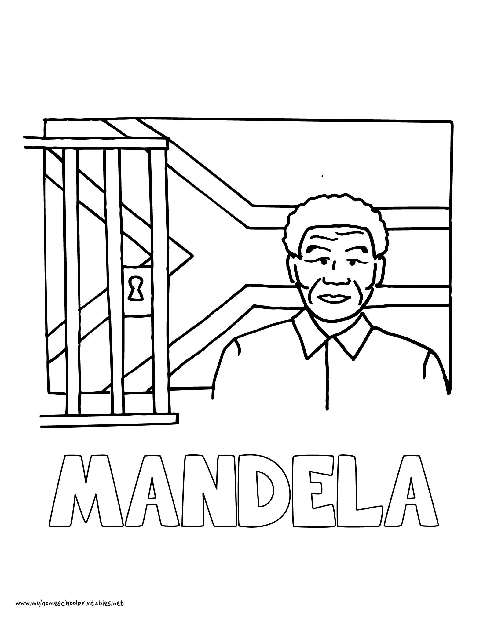 World history coloring pages printables nelson mandela south africa