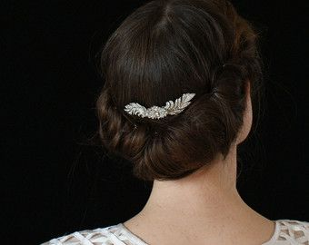 Vintage Style Hair Comb Art Deco Comb 1930s Wedding Hair Etsy 1930s Wedding Hair Vintage Hairstyles Vintage Hair Clips
