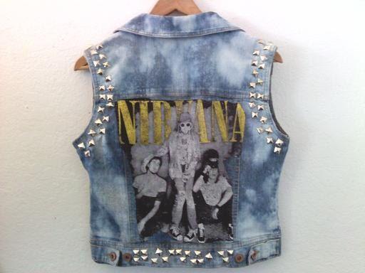 90s grunge punk Jean vest