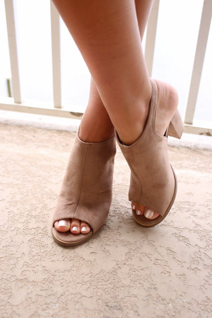 bbc0b2b751 Always Dreaming Taupe Peep Toe Heels - Amazing Lace | Fashion trends ...