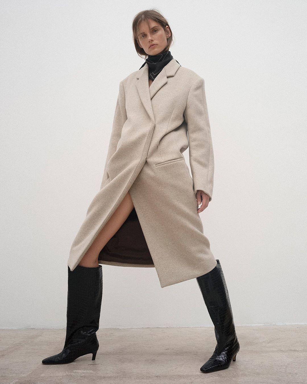 "Totême on Instagram: ""Weekend: Volterra coat Dress"