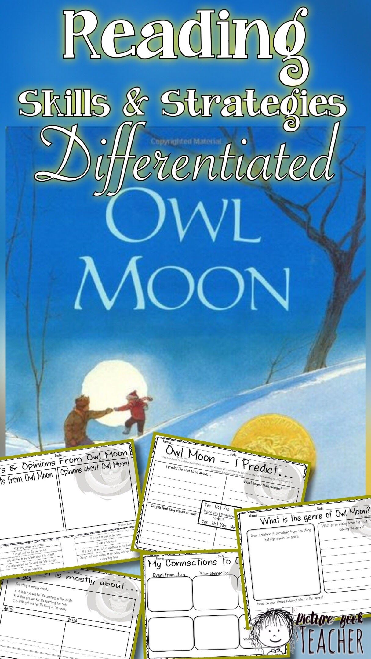 Reading Skills And Strategies Inspired By Owl Moon By Jane