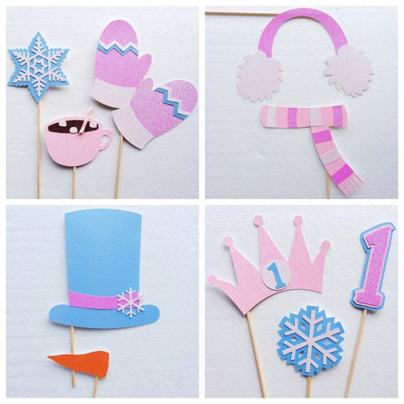 Winter ONEderland Photo Booth Props ; Winter Wonderland ; Christmas Photo Booth Props ; Birthday Photobooth by Lets Get Decorative