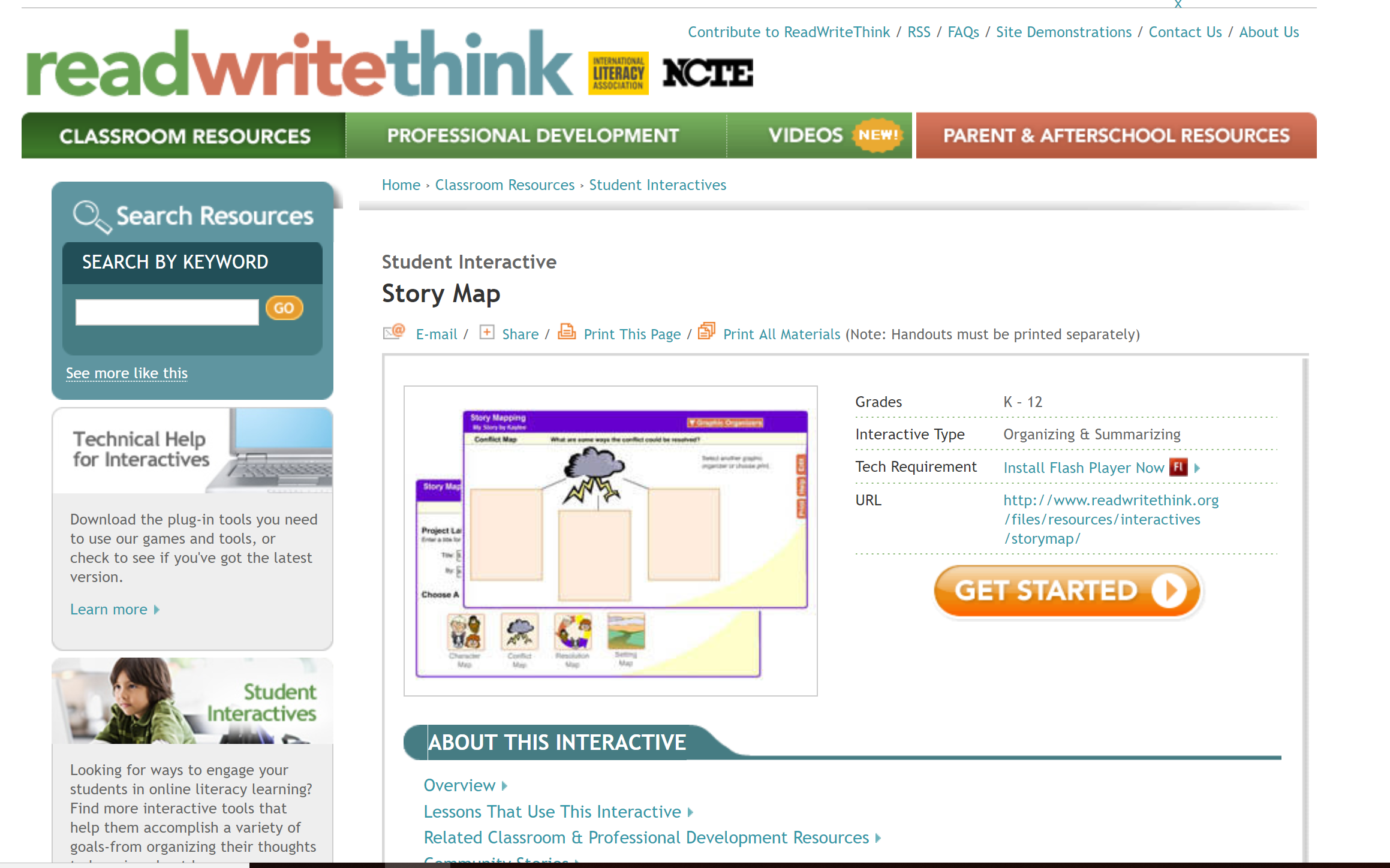 The Story Map Interactive Allows Teachers And Students To