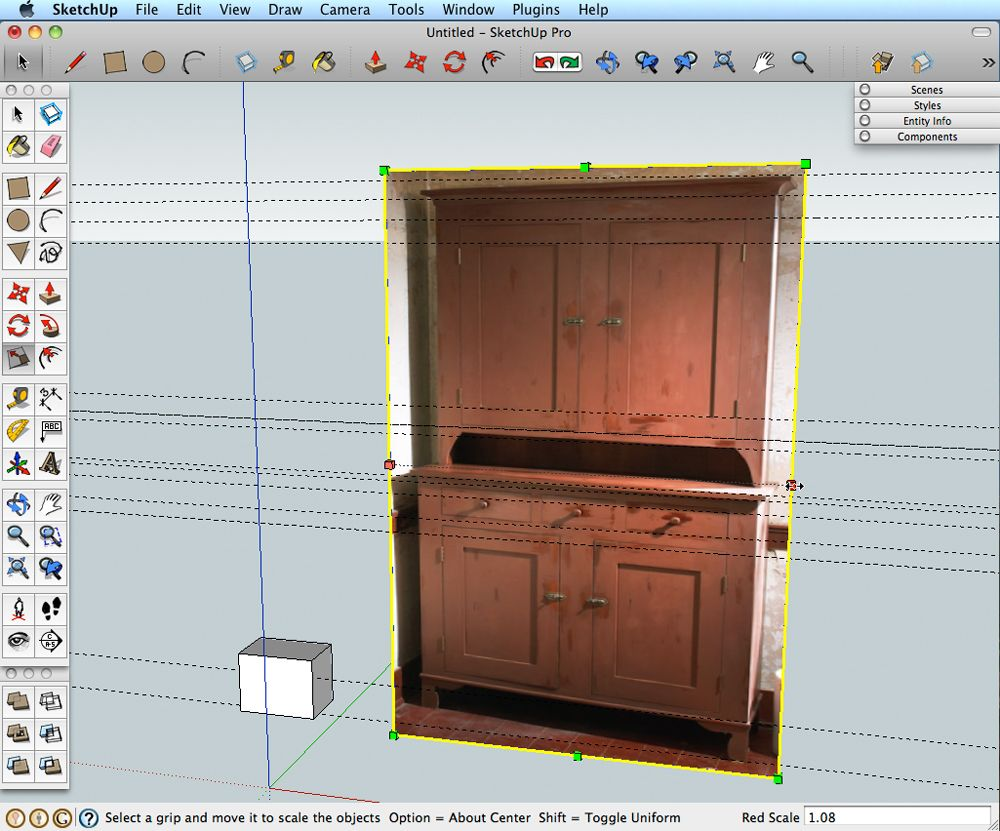 Use A Photo To Make A SketchUp Model Models Woodworking And Sketches