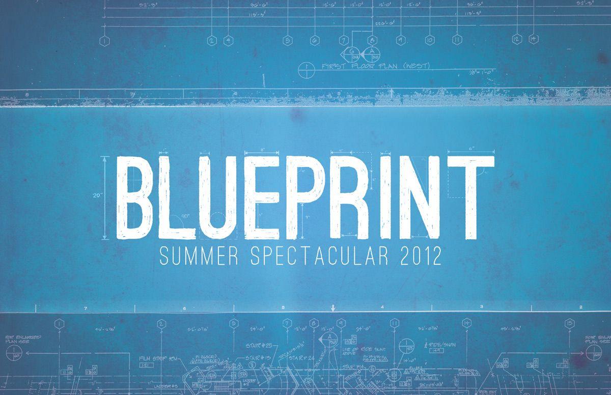 Blueprint inspired headline design