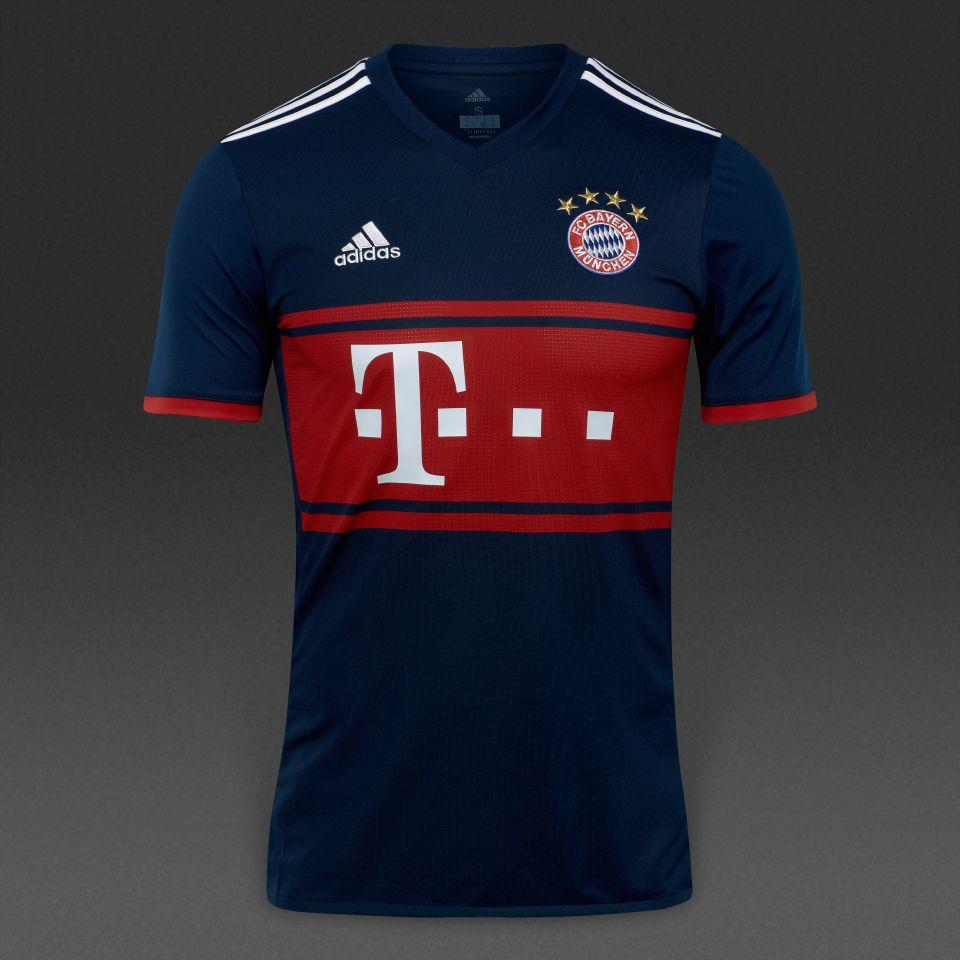 ef5fbd8ebff adidas Bayern Munich 17/18 Away Shirt - Collegiate Navy/FCB True Red ...