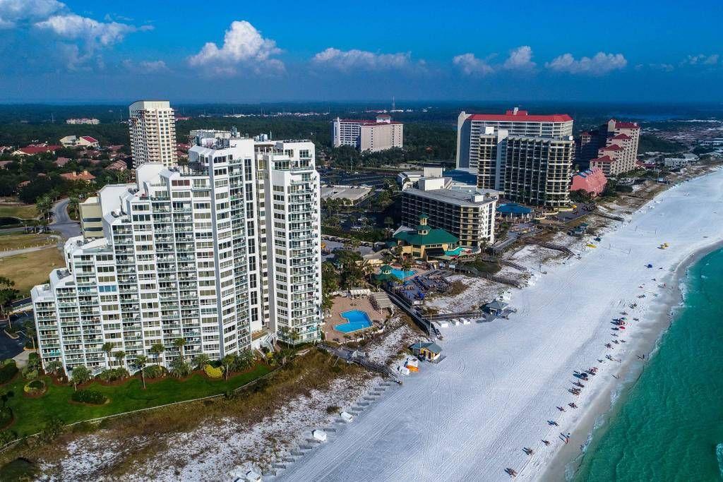 Aerial View of Beachside Two Building Beach condo