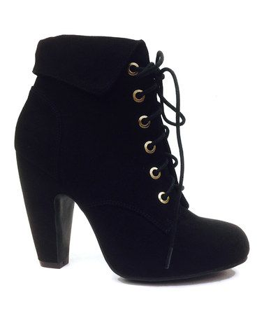 021fe13d120 Love this Black Mozza Lace-Up Bootie on  zulily!  zulilyfinds ...