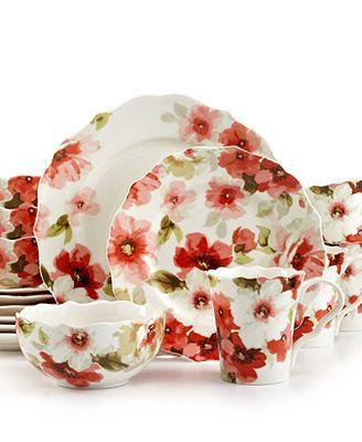 222 Fifth Alicia 16 Piece Set 222 Fifth Dinnerware Dinnerware Tableware Christmas Dinnerware