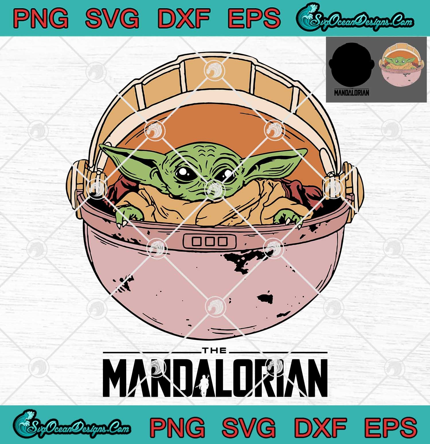 Download Baby Yoda The Mandalorian Star Wars Svg Png Eps Dxf Cricut ...
