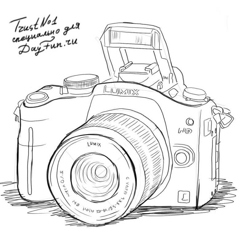 Line Drawing Camera : How to draw a camera step by drawing ideas