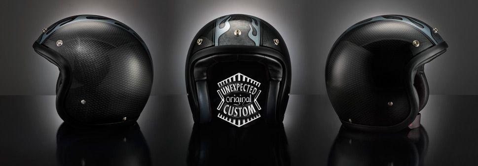Airbrushed Custom Helmet Flames