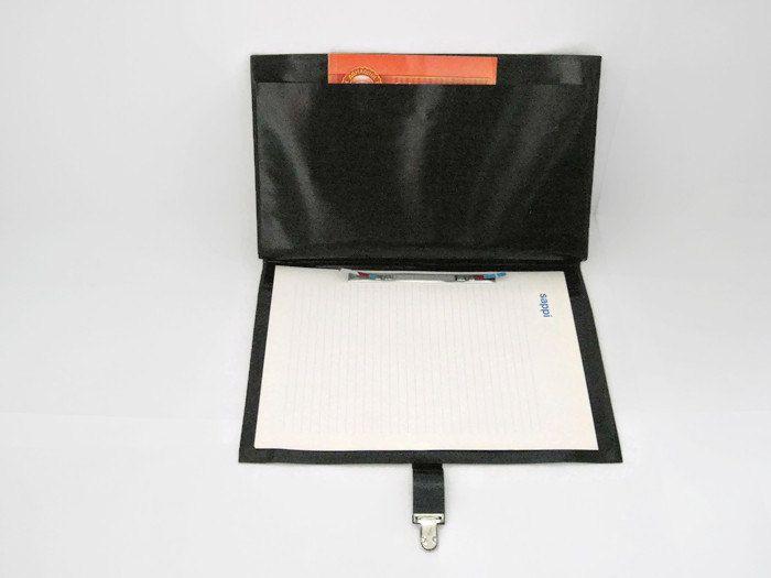 Vintage leatherette folder, black  folder, document folder, office supply, portfolio, USSR vintage, writing folder, black student folder by OldTraditions on Etsy