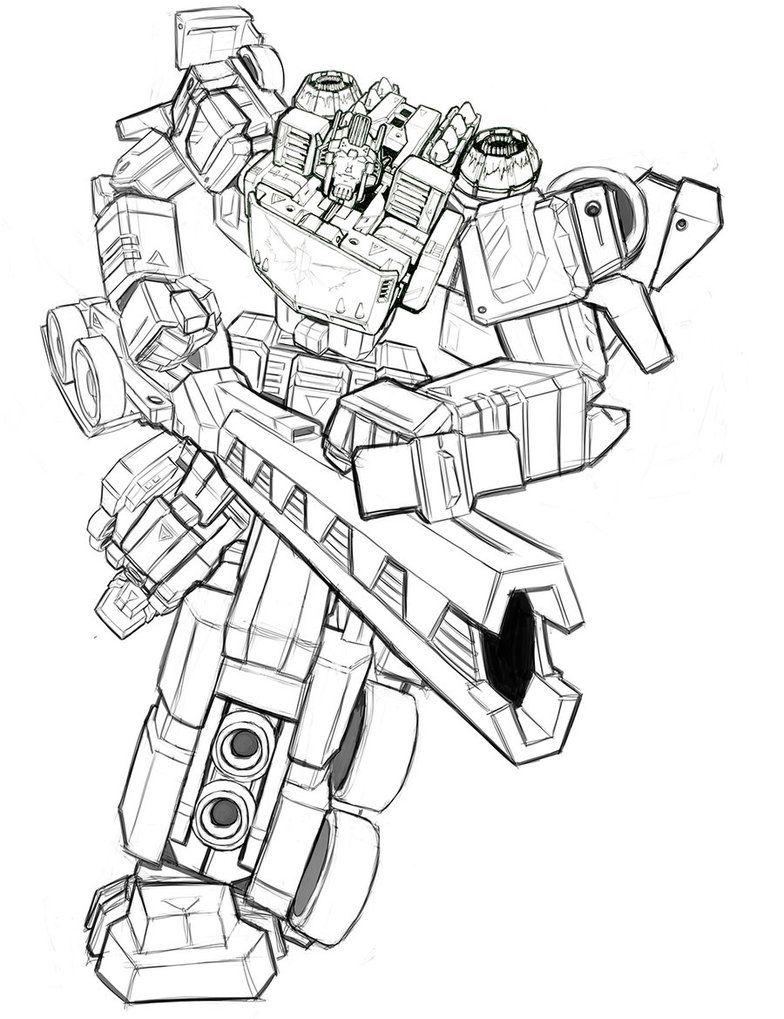 Thunderclash Lines Transformers Artwork Transformers Drawing Transformers Art