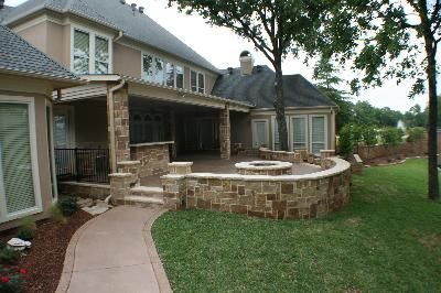 Covered Patio With Fire Pit. Covered Patio And Firepit With Fire Pit V