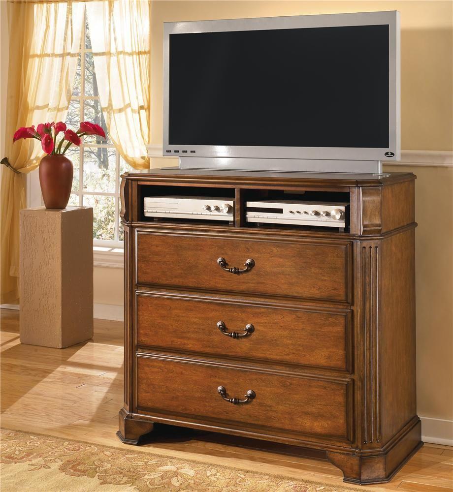 Wyatt Media Chest By Signature Design By Ashley Master Bedroom - Media dresser for bedroom