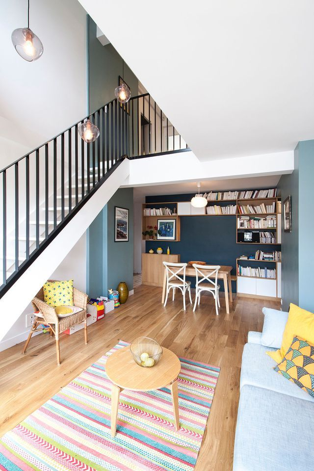 appartement duplex paris r nov par un architecte d coration pinterest appartement duplex. Black Bedroom Furniture Sets. Home Design Ideas