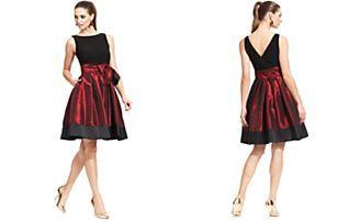 SL Fashions Sleeveless Pleated Side Bow Dress