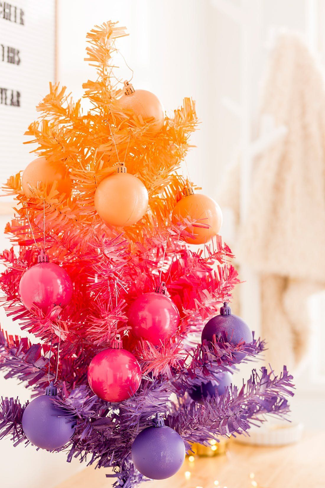 These Quirky Christmas Trees Were Made For The Color Lover Colorful Christmas Tree Christmas Tree Painting Christmas Decorations